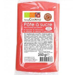 Pasta de azúcar - naranja coral - 250 g