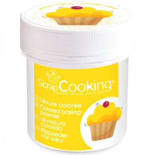 Pot de levure colorée jaune - 40 g