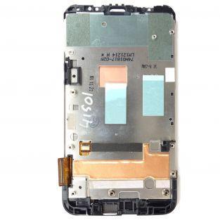 Vitre tactile avec écran LCD Retina sur châssis noir pour HTC desire X