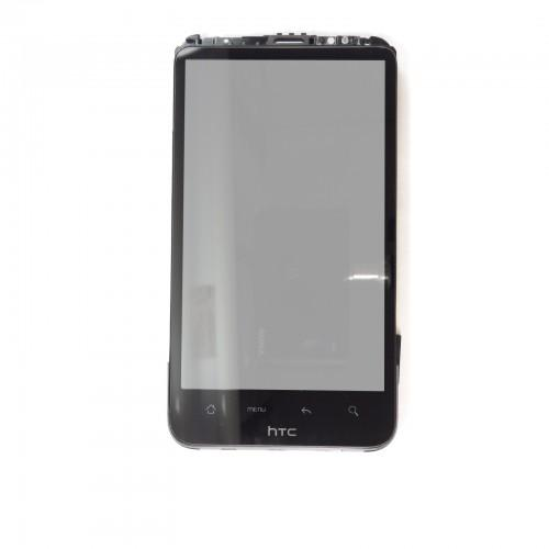 HTC Desire X Touchscreen LCD Retina with frame - Black