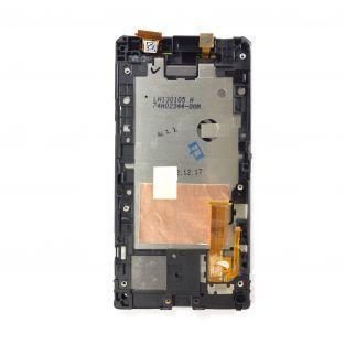 Vitre tactile + écran LCD Retina sur châssis noir/bleu pour HTC 8S
