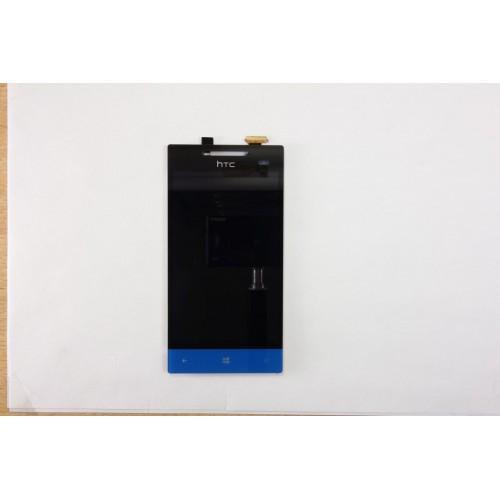 Vitre tactile + écran LCD Retina noir/bleu pour HTC 8S