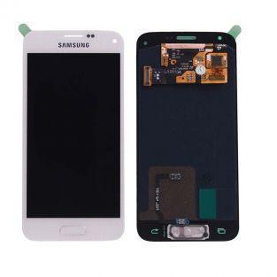 Original Vitre tactile écran LCD Samsung Galaxy S5 mini G800F blanc