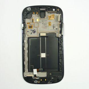 Original Vitre tactile écran LCD sur châssis Samsung Galaxy Express I8730 gris