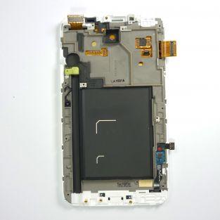 Original Vitre tactile écran LCD sur châssis Samsung Galaxy Note N7000 blanc