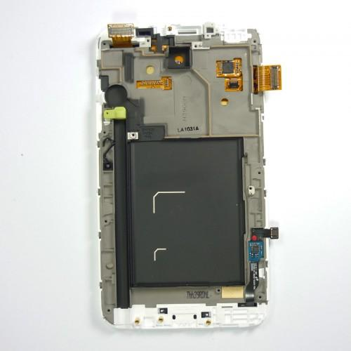 Original Samsung Galaxy Note N7000 LCD Touchscreen with frame - White