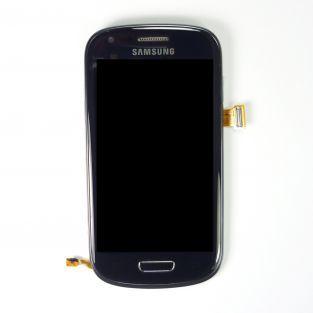 Original Vitre tactile écran LCD sur châssis Samsung Galaxy S3 mini I8190 noir