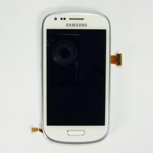 Original Vitre tactile écran LCD sur châssis Samsung Galaxy S3 mini I8190 blanc