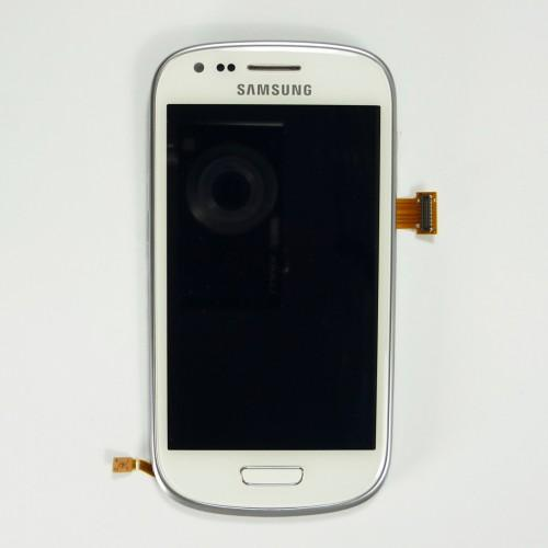 Original Samsung Galaxy S3 mini I8190 LCD Touchscreen with frame - White