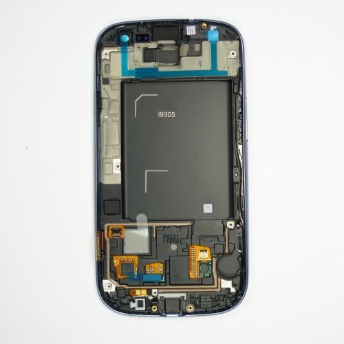 Original Vitre tactile écran LCD sur châssis Samsung Galaxy S3 I9305 gris