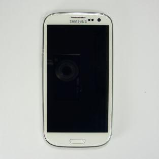 Original Vitre tactile écran LCD sur châssis Samsung Galaxy S3 I9305 blanc
