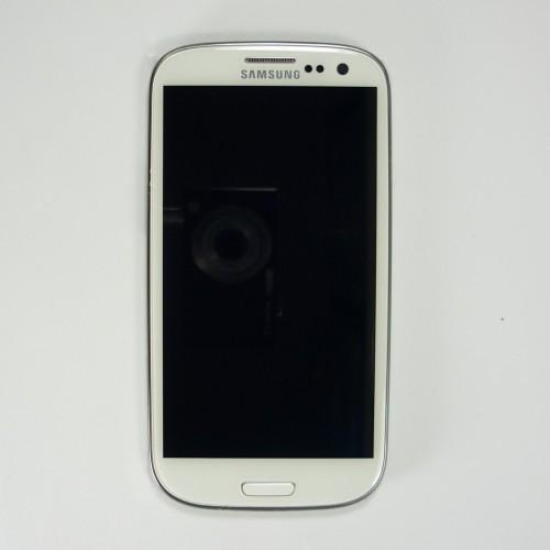 Original Samsung Galaxy S3 I9305 LCD Touchscreen with frame - White