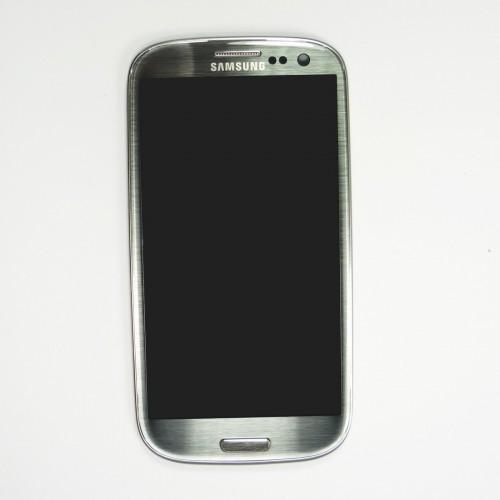 Original Vitre tactile écran LCD sur châssis Samsung Galaxy S3 I9300 gris