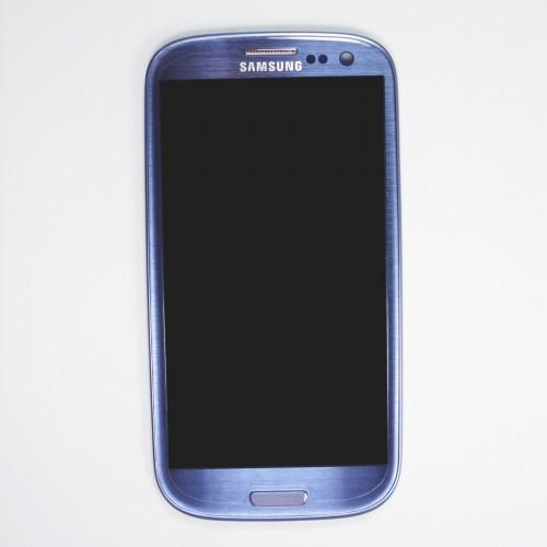 Original Samsung Galaxy S3 I9300 LCD Touchscreen with frame - Blue