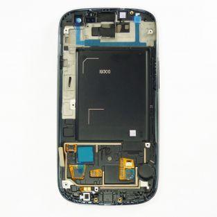 Original Vitre tactile écran LCD sur châssis Samsung Galaxy S3 I9300 bleu