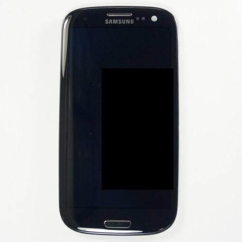 Original Vitre tactile écran LCD sur châssis Samsung Galaxy S3 I9300 noir