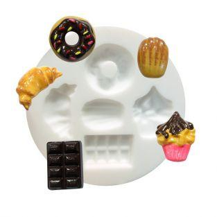 Silicone mold for Fimo - Delicacies