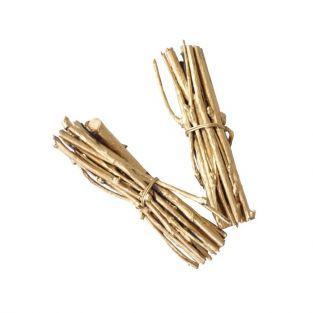 4 mini manojo de leñas 7 cm - oro