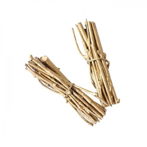 4 mini bundles of twigs 7 cm - golden