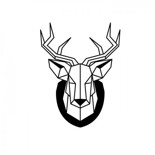 Wood stamp - deer head
