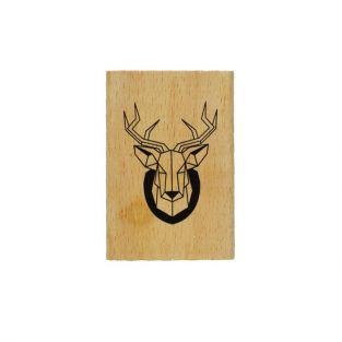 Wood stamp - deer head