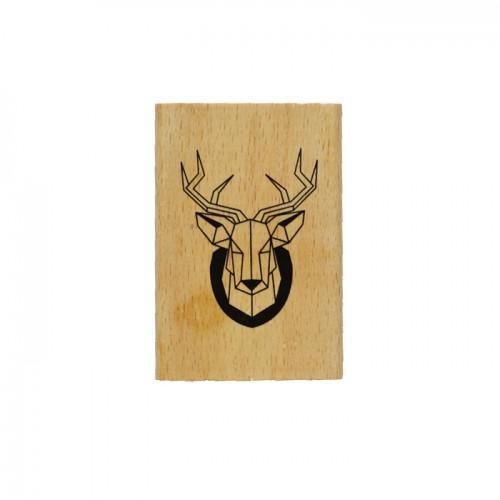 Tampon bois - tête de cerf