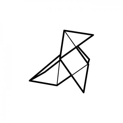 Wood stamp - origami hen