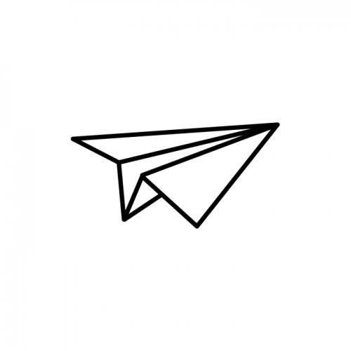 Tampon bois - avion origami