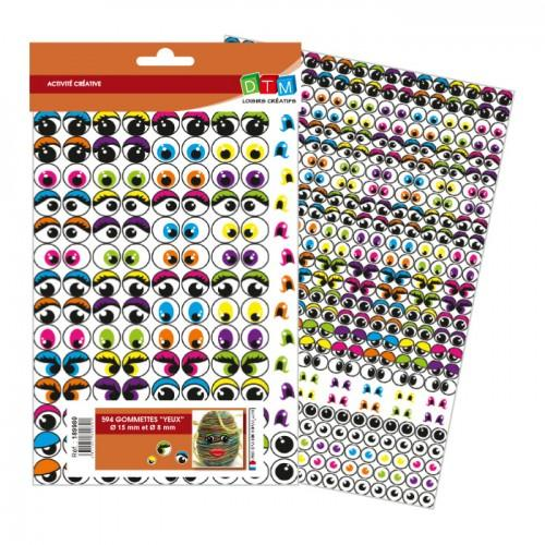 594 adhesive stickers eyes