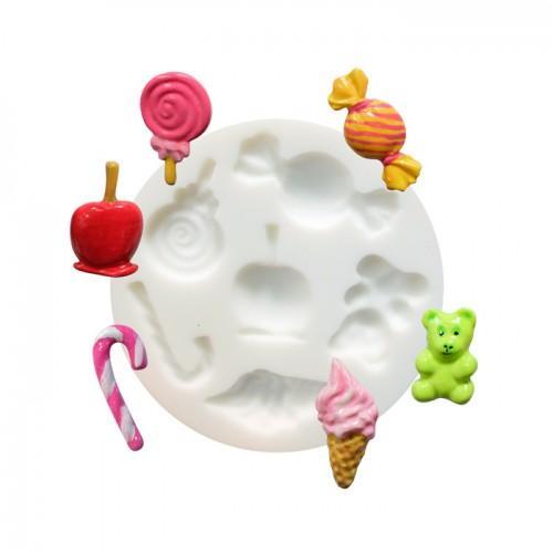 molde de silicona para Fimo - Candy