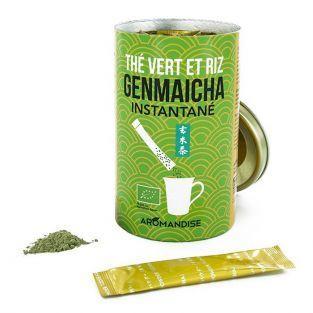 Tè verde Genmaicha istantanei in buste