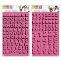 Alphabet and numbers chocolate molds Kit