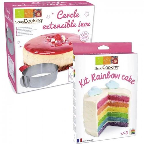 Kit Rainbow Cake + Cercle extensible inox