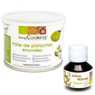 Pâte de pistache + arôme pistache