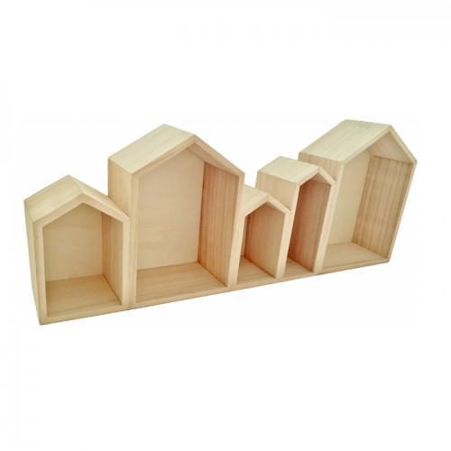 Estantes de madera peque as casas - Estanterias pequenas de madera ...
