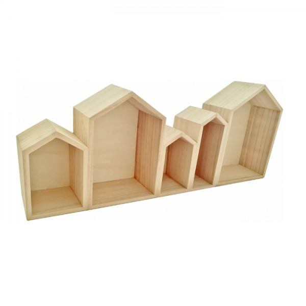 etag re en bois 5 blocs maison 50 x 8 x 20 cm youdoit. Black Bedroom Furniture Sets. Home Design Ideas