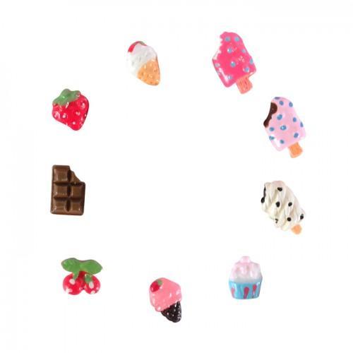 18 mini-gourmet Decoraciones Fimo - Helado