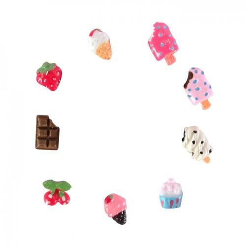 18 mini gourmet Decorations Fimo - Ice Cream