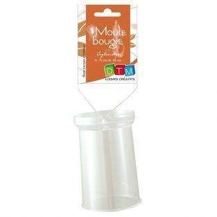Molde de vela de plástico - cilindro 7,5 cm