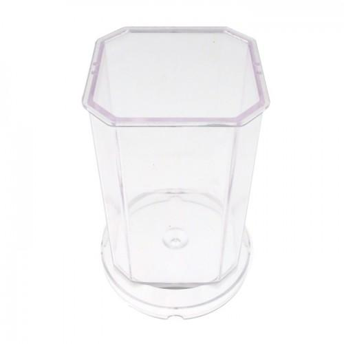 Moule à bougie plastique - carré H 7,5 cm