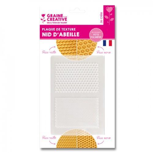 Plaque de texture pour pâte FIMO - motif nid d'abeille