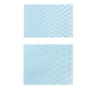 Plaque de texture pour pâte fimo - motif japon