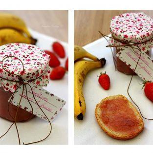 1 set decorative for jar marmalade - Flowers