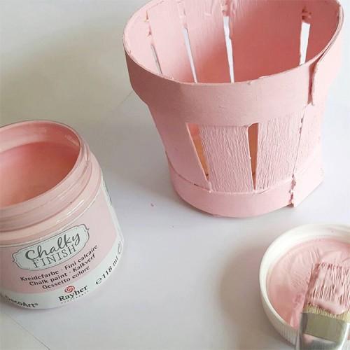 Peinture craie rose