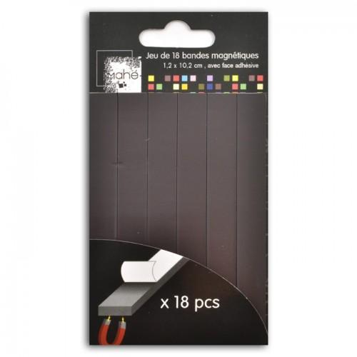 18 cintas adhesivas magnéticas 10,2 x 1,3 cm