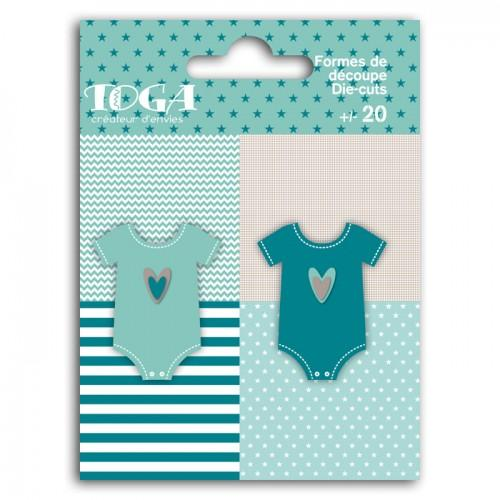 20 shapes cut baby body blue-gray