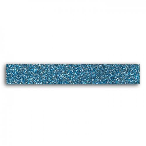 Masking tape con brillo 2 m - azul y gris