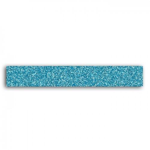 Masking tape con brillo 2 m - azul claro