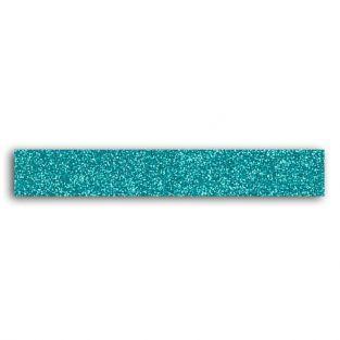 Glitter tape 2 m - Bleu turquoise