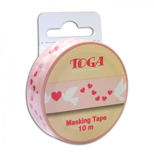 Masking tape Hearts & doves